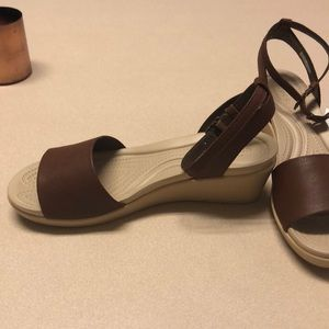 8d5e8c430ca0 CROCS Shoes - Crocs- Leighann ankle strap wedge in hazelnut